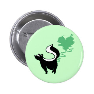 Stinky Love Skunk 6 Cm Round Badge