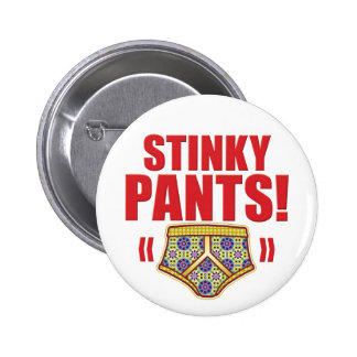 Stinky Pants Flowery Buttons
