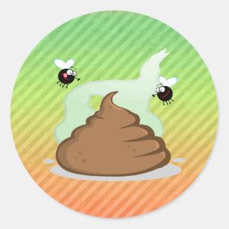 Stinky Poo design Round Sticker