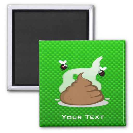 Stinky Poo; Green Refrigerator Magnet