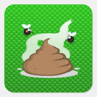 Stinky Poo Green Stickers
