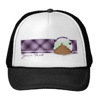 Stinky Poo; Purple Mesh Hats