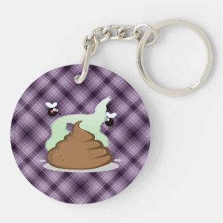 Stinky Poo; Purple Acrylic Key Chains