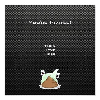 Stinky Poo; Sleek 13 Cm X 13 Cm Square Invitation Card