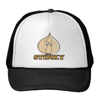 stinky sad garlic face trucker hats