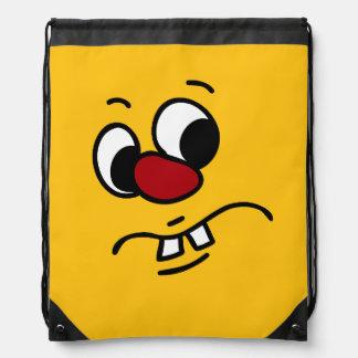 Stinky Smiley Face Grumpey Cinch Bag