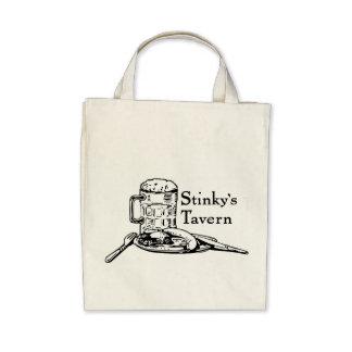 Stinky's Tavern Bag Tote Bags
