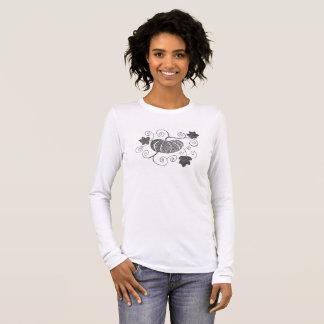 Stippled Pumpkin Long Sleeve T-Shirt