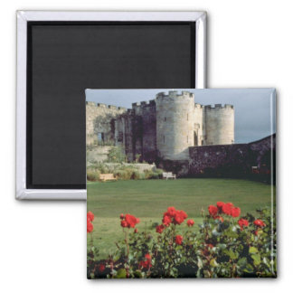 Stirling Castle, Scotland flowers Square Magnet