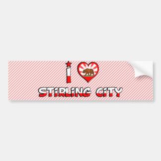 Stirling City, CA Car Bumper Sticker