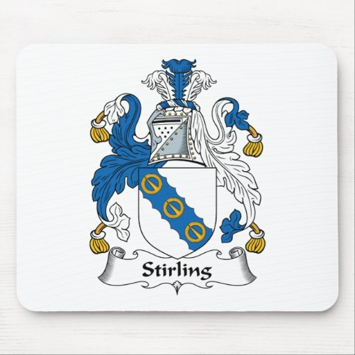 Stirling Family Crest Mouse Mats