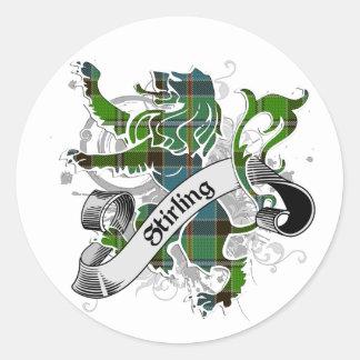 Stirling Tartan Lion Classic Round Sticker