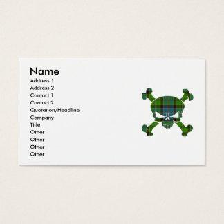 Stirling Tartan Skull No Banner Business Card