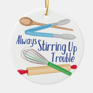 Stirring Up Trouble Christmas Ornament