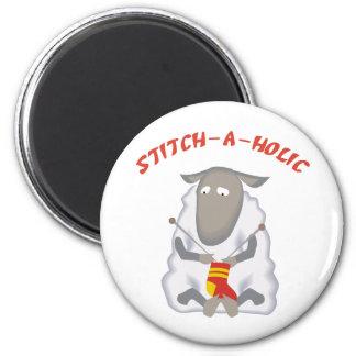 Stitch-a-holic Knitter Fridge Magnets