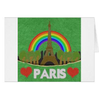 Stitch Eiffel Tower Greeting Card