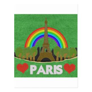 Stitch Eiffel Tower Postcard