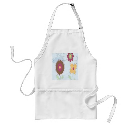 Stitch flowers design apron