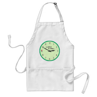 Stitch in time saves 9 - Apron Green