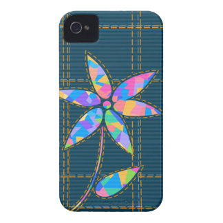 Stitched Colorful Flower Blackberry Bold Case