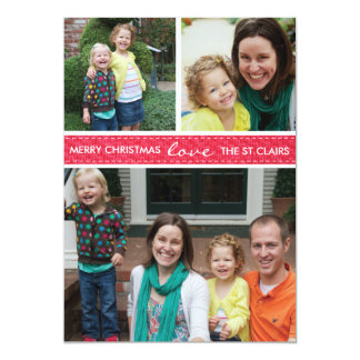 'Stitched' Holiday Photo Card