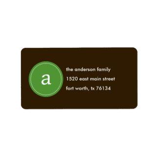 Stitched Monogram Address Label