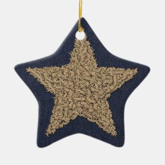 Stitchery Star Christmas Ornament