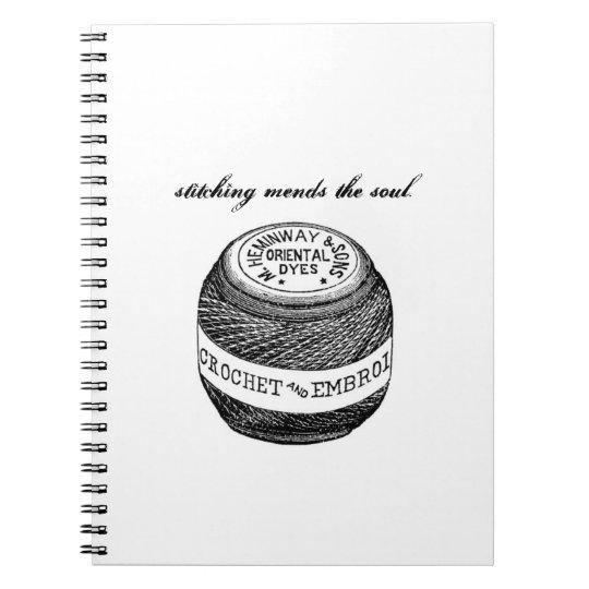 """Stitching Mends"" notebook from Notforgotten Farm"