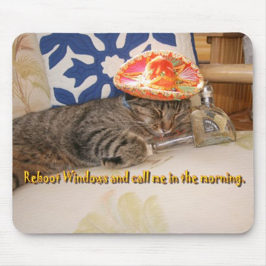 StitchKitty and tequila Mouse Mat