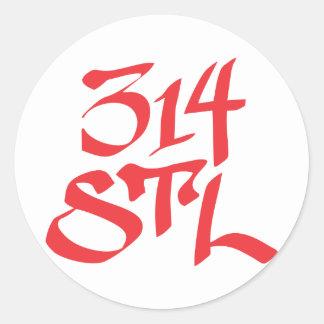 STL 314 ROUND STICKER