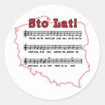 Sto Lat! Song Polish Map Classic Round Sticker
