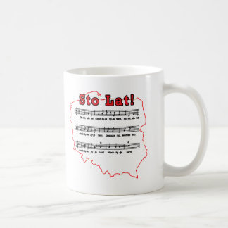 Sto Lat! Song Polish Map Coffee Mug