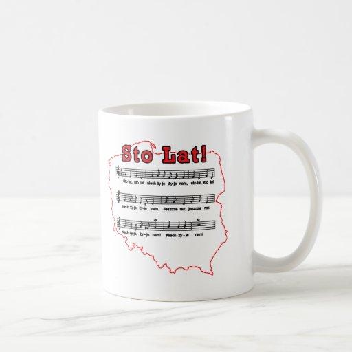 Sto Lat! Song Polish Map Mugs