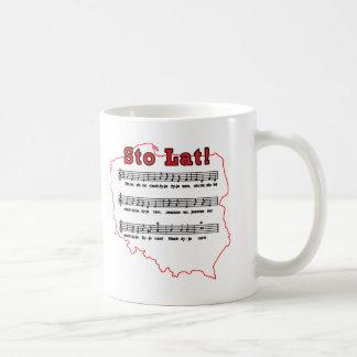 Sto Lat Song Polish Map Mugs