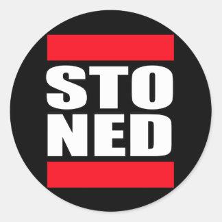 STO NED ROUND STICKER
