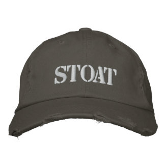 STOAT EMBROIDERED HAT