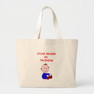 stock broker tote bags