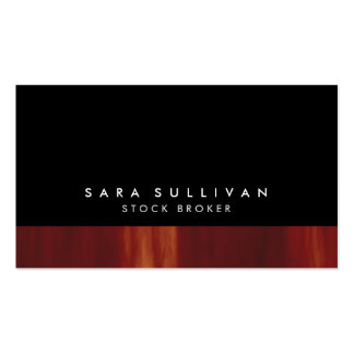 Stock Broker Bold Black Abstract Sunset Gradient Business Cards