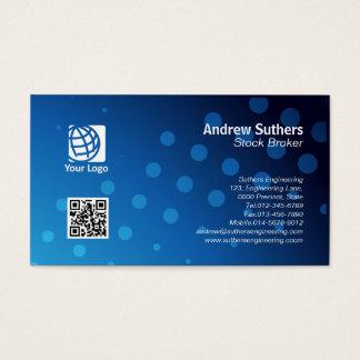 Stock Broker Business Card Blue Dots