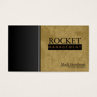 Stock Broker Business Card - Khaki Professional