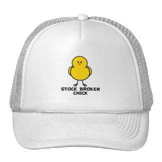 Stock Broker Chick Trucker Hats
