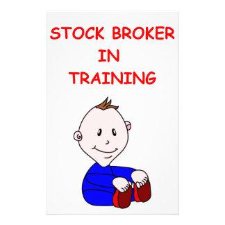 stock broker stationery