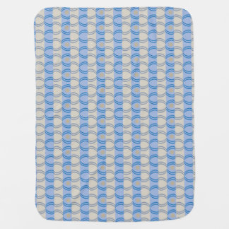 Stock Candystripe Blue Tan Baby Blanket
