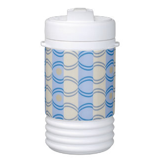 Stock Candystripe Blue Tan Drinks Cooler