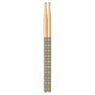 Stock Candystripe Blue Tan Drumsticks
