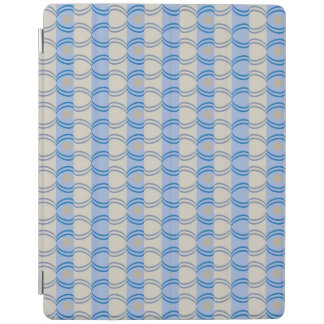 Stock Candystripe Blue Tan iPad Cover