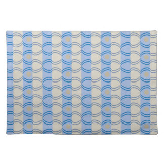 Stock Candystripe Blue Tan Placemat