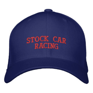 STOCK CAR RACING EMBROIDERED HATS