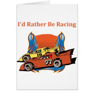 Stock Car Racing Greeting Card