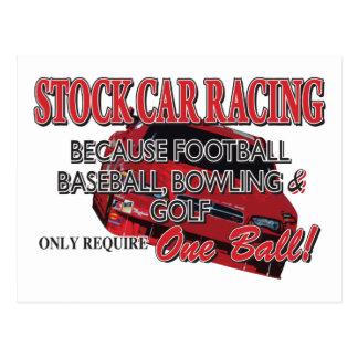Stock Car Racing Postcard